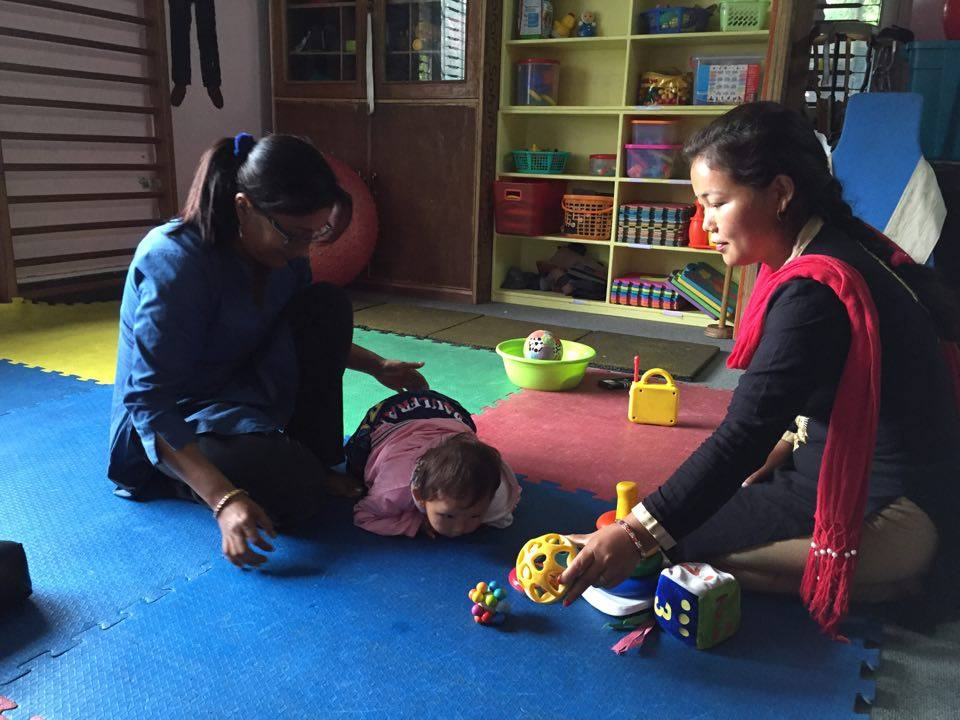 training mother:teacher18montholdbaby2